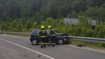Intervenciji: Prometna nesreča in reševanje živali